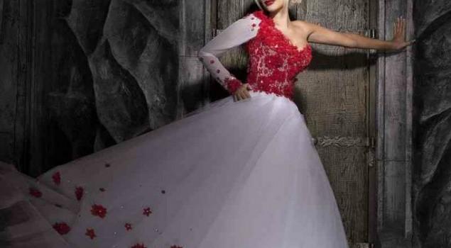 Ефектне, яскраве та пристрасне весілля в білому та червоному кольорі
