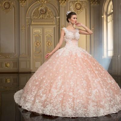 Рожеві весільні сукні 2017 року